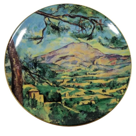 View Of Monte Sainte Victoire plate